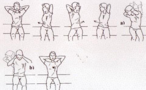 上体の回旋と屈曲伸展の比較